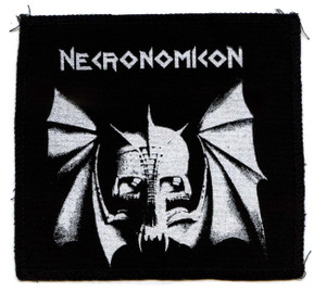 "Necronomicon Bat Skull 6x6"" Printed Patch"