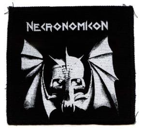 "Necronomicon - Bat Skull 6x6"" Printed Patch"