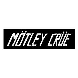 "Motley Crue Mötley Crüe Logo 6x3"" Printed Patch"
