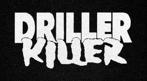 "Driller Killer Logo 6x3"" Printed Patch"