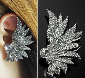Aztec Gem Filled Wing Earrings