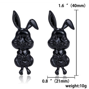 Black Easter Bunny Earrings