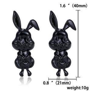 Black Easter Bunny Earrings