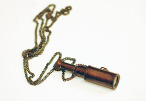 Functioning Mini Telescope Necklace
