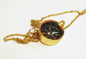Functioning Compass Necklace