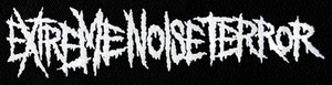 "Extreme Noise Terror Logo 9x3"" Printed Patch"