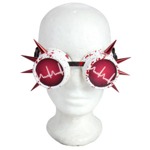 Goggles - Heart Monitor with Spikes and Blood Splatter