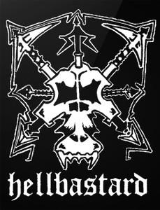 """Hellbastard- Skull 4x5"""" Printed Sticker"""
