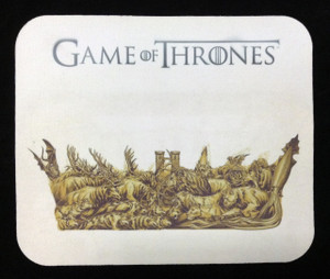 """Game of Thrones Crown of Houses 9x7"""" Mousepad *Faulty*"""