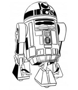 """Star Wars - R2D2 3.25x4"""" Printed Sticker"""
