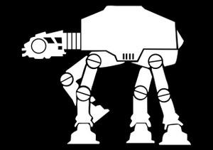 """Star Wars - ATAT 2.75x4"""" Printed Sticker"""