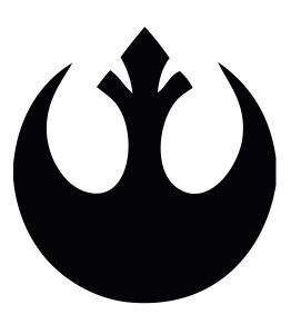 "Star Wars - Rebel Logo 3.25x4.75"" Printed Sticker"