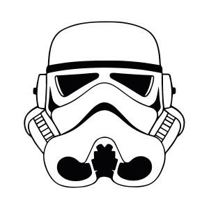 "Star Wars - Stormtrooper 3.75x4"" Printed Sticker"
