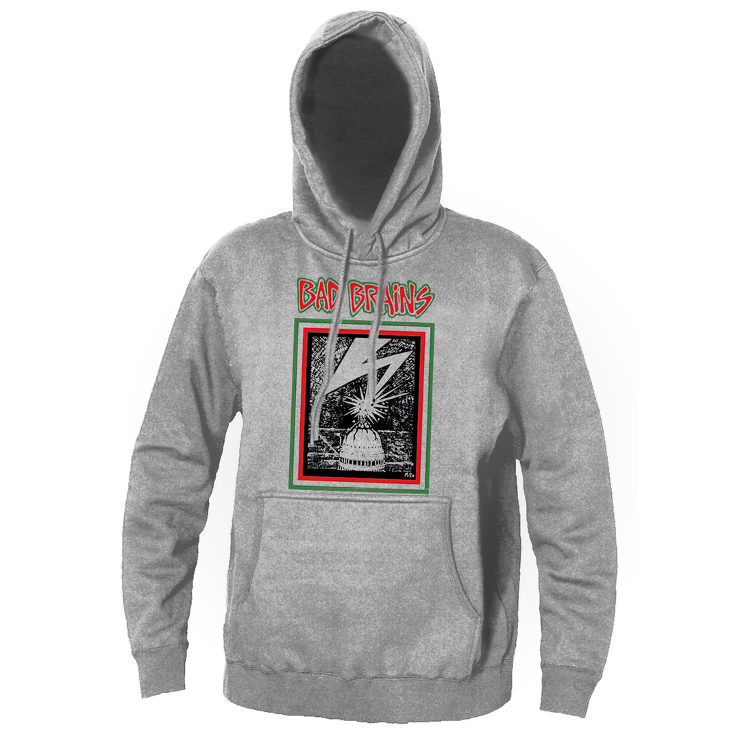 Official Bad Brains Bad Brains Hooded Jumper Hoodie Pullover Band Merch