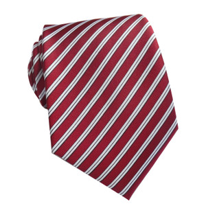 Red Stripped Polyester Neck Tie