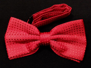 Red with Polka Dots Bow Tie
