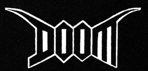 "Doom Logo 7x4"" Printed Patch"