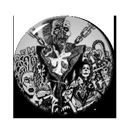"""Broken Bones - Crucifix 2.25"""" Pin"""