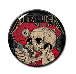 "Metallica - Rose and Skull 2.25"" Pin"