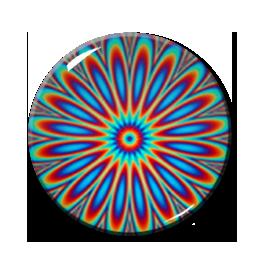 "Kaleidoscope Pattern #1 2.25"" Pin"