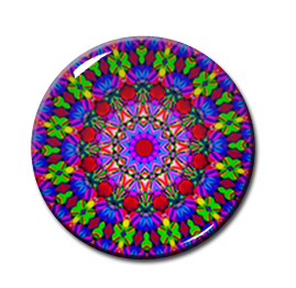 "Kaleidoscope Pattern #2 2.25"" Pin"