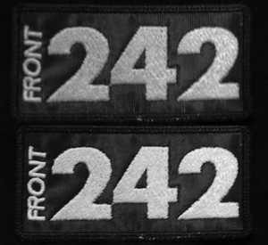 """Front 242 Logo  4x2"""" Embroidered Patch"""