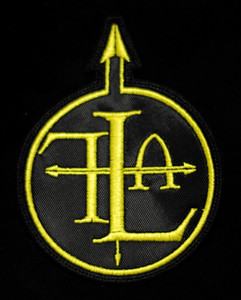 """Front Line Assembly 3x3"""" Yellow Embroidered Patch"""