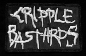 """Cripple Bastards 4x2.5"""" White Embroidered Patch"""