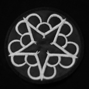 "Black Veil Brides 3x3"" Round Star Logo Embroidered Patch"