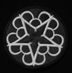 """Black Veil Brides 3x3"""" Round Star Logo Embroidered Patch"""