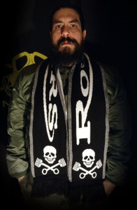 "Rockers - 58x9"" Knitted Scarf"