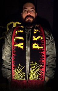 "Psychobilly - 58x9"" Knitted Scarf"