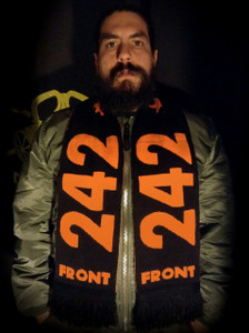 "Front 242 - 58x9"" Knitted Scarf"