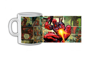 Deadpool Comic Strip Shooting Coffee Mug