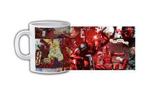 Deadpool Comic Strip Sword Coffee Mug