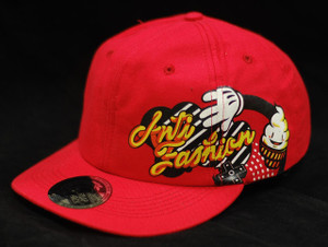 Baseball Style Red with Ice Cream Cone Snapback Cap