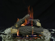 "Weathered Oak 15""- Complete Gas Log Set"