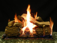 "Blazed Oak 30"" - Complete Gas Log Set"