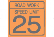 (C17) ROAD WORK SPEED LIMIT 25 - 24X24 CB