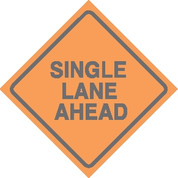 (C21) SINGLE LANE AHEAD - 24X24 CB
