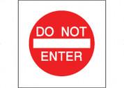 DO NOT ENTER - RED/WHT CB