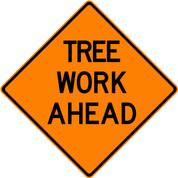 "(C23-T) TREE WRK AHD - 48"" VINYL"