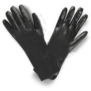 "14"" BLACK GAUNTLET PVC COATED GLOVES (DOZEN)"
