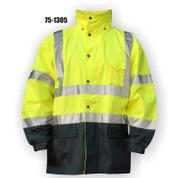 75-1305 HI VIS PARKA ANSI CLASS 3 - YLW/ BLACK BOTTOM