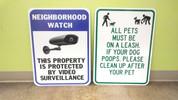 NEIGHBORHOOD WATCH SIGN & DOG SIGN