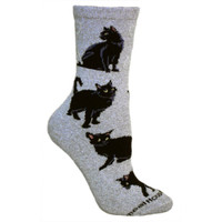 Wheel House Black Cat Socks