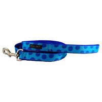 Walk-E-Woo Blue Dots on Turquoise Lead