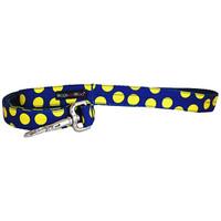 Walk-E-Woo Neon Yellow Dots on Blue Lead