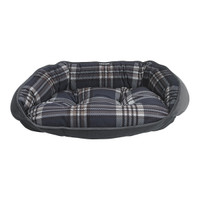 Bowsers Crescent Bed - Greystone Tartan