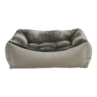 Bowsers Scoop Bed - Chinchilla Faux Fur